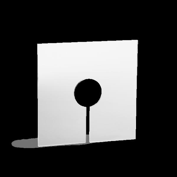 Foto af klart acryl støvlåg til håndfoldet papirlampe model Amaea