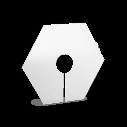 Foto af klart acryl støvlåg til håndfoldet papirlampe model Siphonia